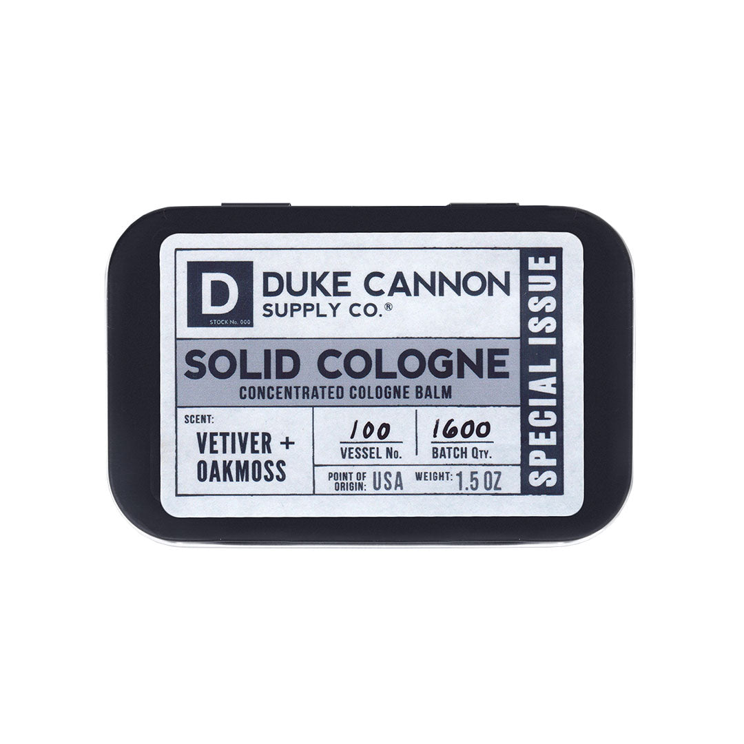 Solid Cologne Special Issue - Vetiver + Oakmoss - Duke Cannon