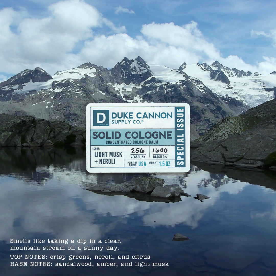 Solid Cologne - Light Musk + Neroli (Special Issue) - Duke Cannon