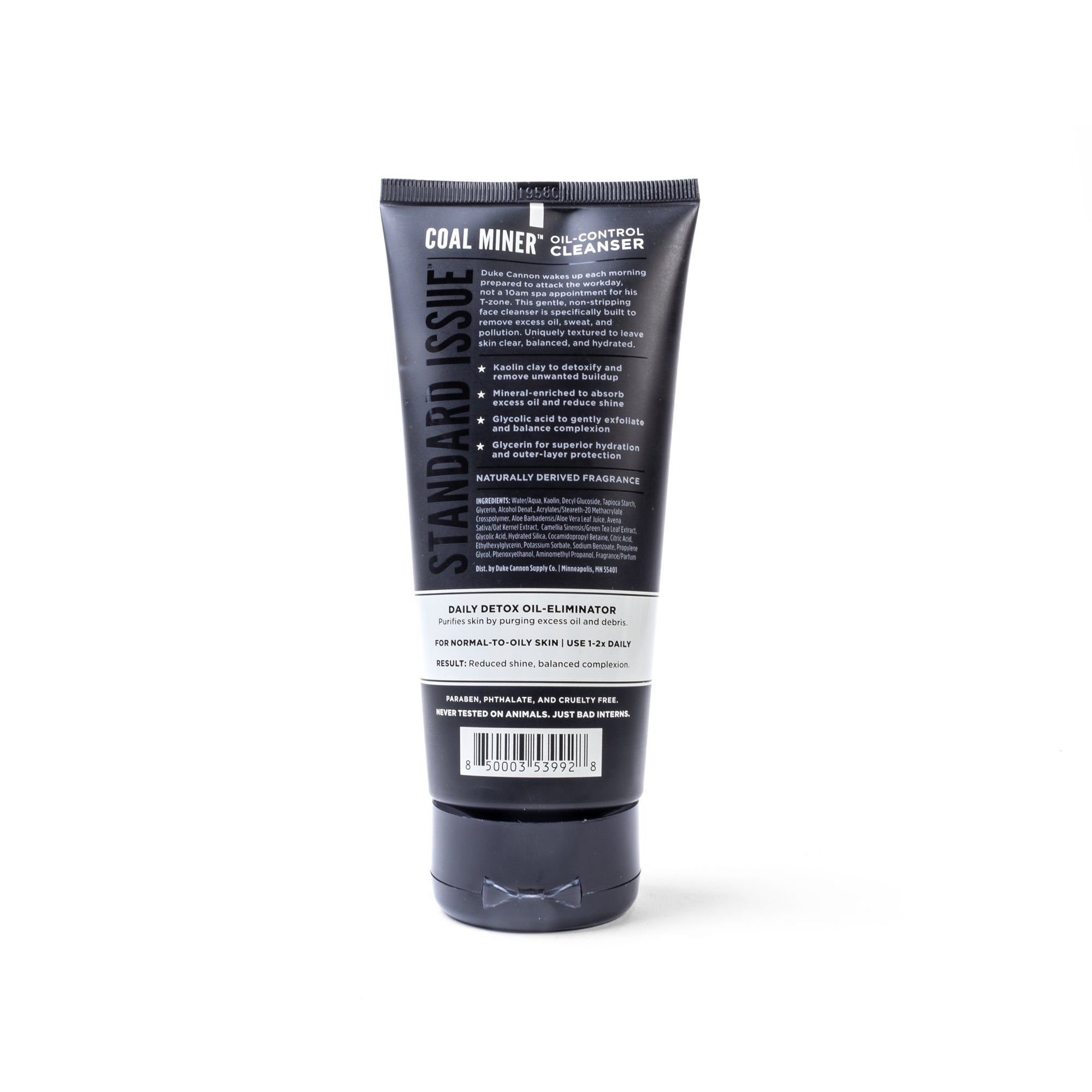 COAL MINER Oil Control Face Cleanser - Duke Cannon
