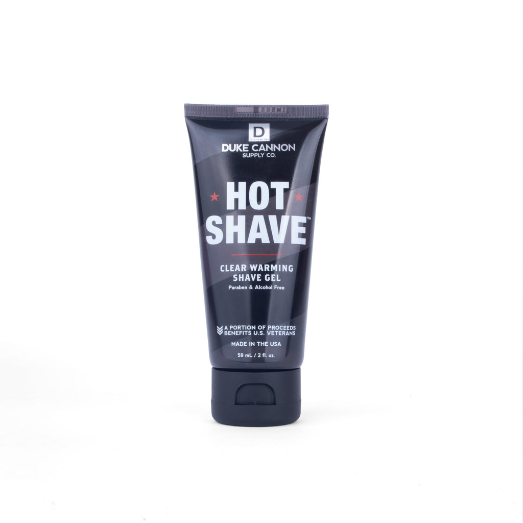 Hot Shave Clear Warming Shave Gel - Travel Size - Duke Cannon
