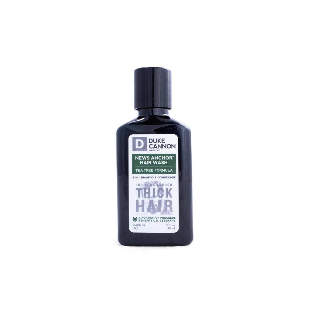 News Anchor Tea Tree 2-in-1 Hair Wash - Travel Size - Duke Cannon