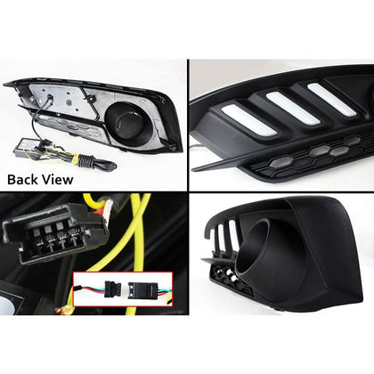 Honda Civic Fog Lights DRL Cover Mustang Style - Model 2016-2020