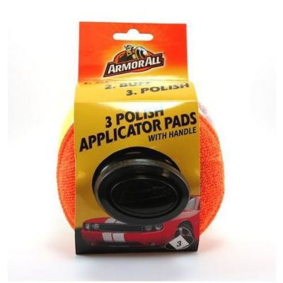 Armor All 3pcs Polish Applicator Pads with Handle
