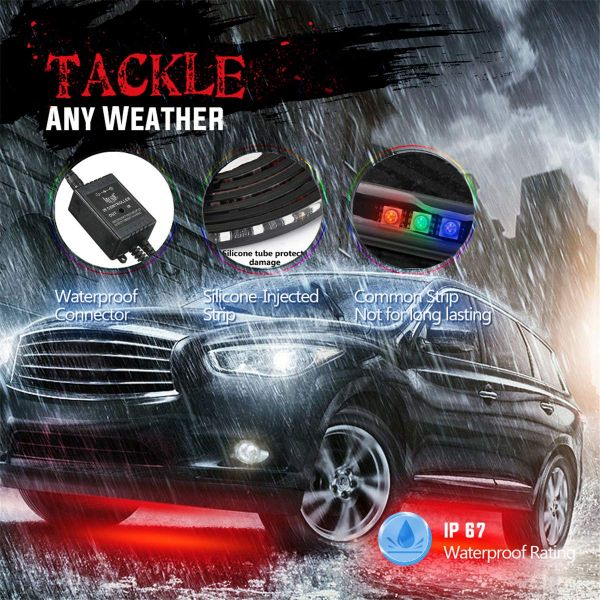 Car Led Colorful Flashlight