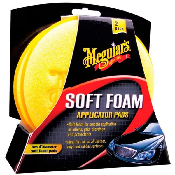 MEGUIAR'S FOAM APPLICATOR PAD (2 PACK)