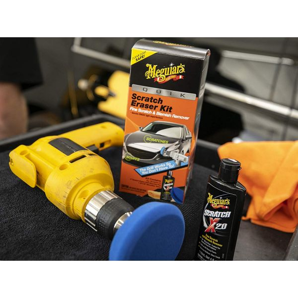MEGUIAR'S QUIK SCRATCH ERASER KIT – ALL IN ONE KIT TO REMOVE FINE BLEMISHES