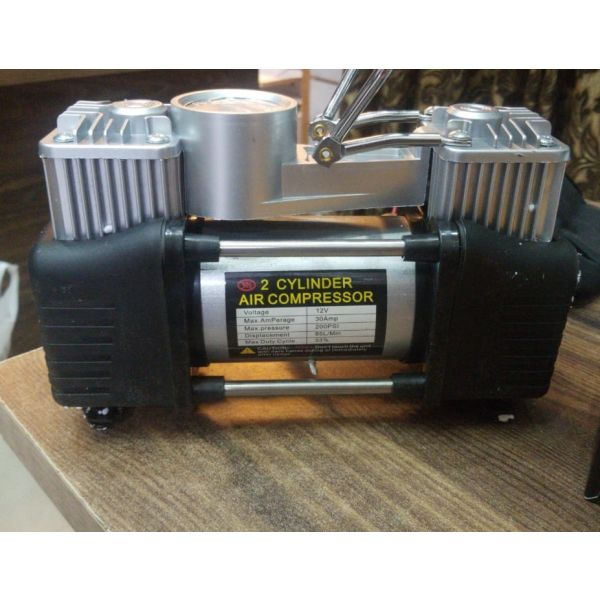 Portable Double Cylinders Air compressor - with Extra Powered