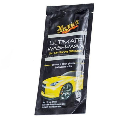 MEGUIARS ULTIMATE WASH & WAX SACHET - 1 OZ