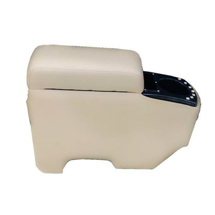 Leather Console Box Armrest And Cup Holder