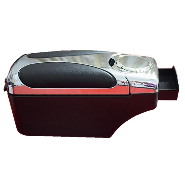 Dual Console Box Arm Rest Sliver and Black