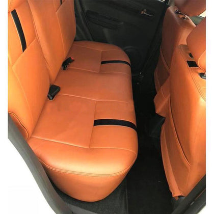 Suzuki Swift Seat Covers Orange with Black Strips - Model 2010-2021