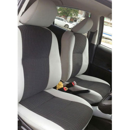 Toyota Hilux Revo Seat Cover Black with Red Stitch - Model 2021
