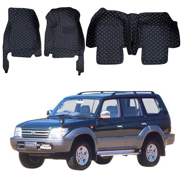 Toyota Prado 7D Floor Mats - Model 1996-2002