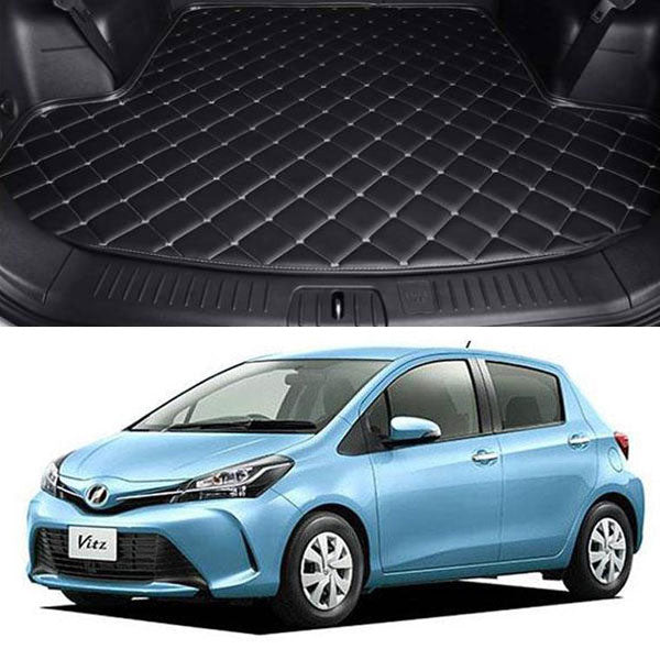 Toyota Vitz 7D Custom Car Trunk Mat - Model 2017-2018