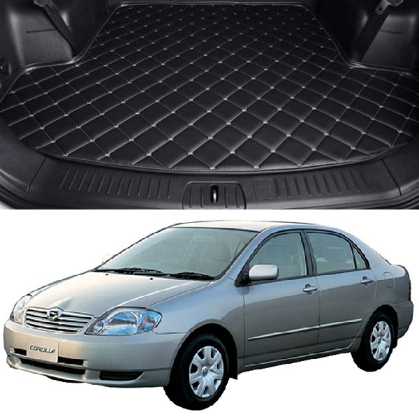 Toyota Corola 7D Custom Car Trunk Mat - Model 2000-2005