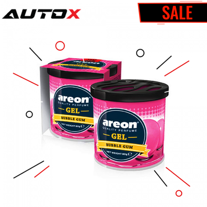 Areon Gel Car Perfume Long Lasting Fragrance Can Bubble Gum