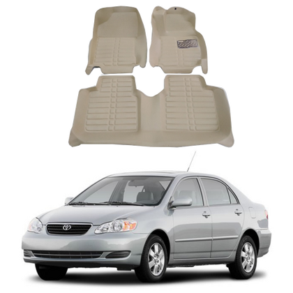Toyota Corolla 5D Mat Beige Color of 3 Pieces - Model 2005