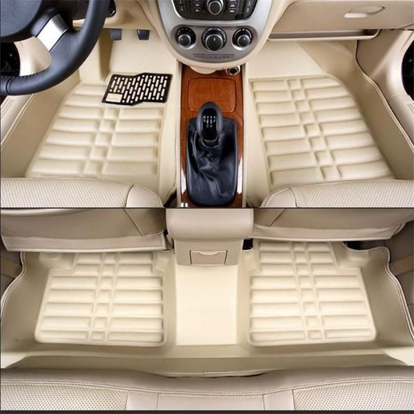 5D Floor Mats Beige For Honda Civic Model 2013-2016