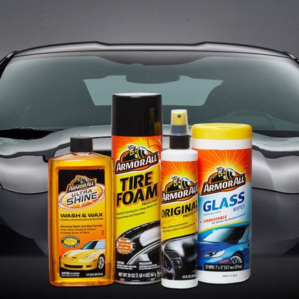 Armor All Car Wash and Cleaner 4pc Complete Car Care Kit