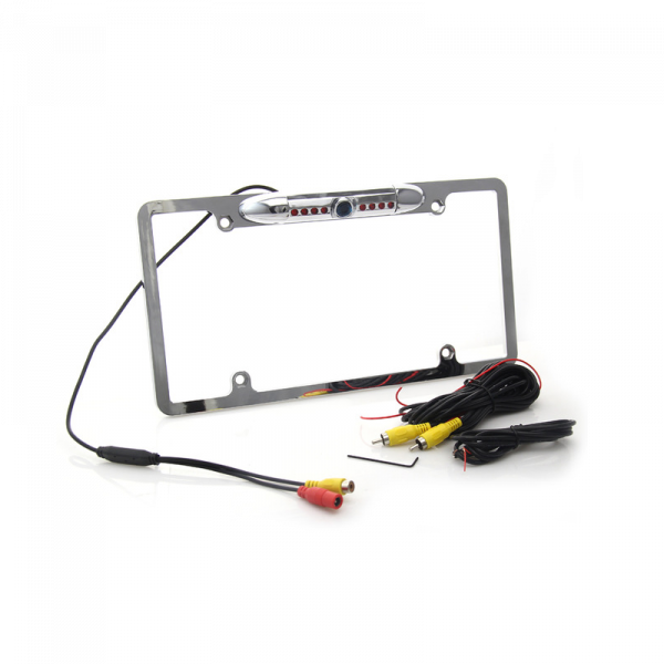 Car License Plate FramE-mount Rear View Backup Camera 8 IR Night Vision Light