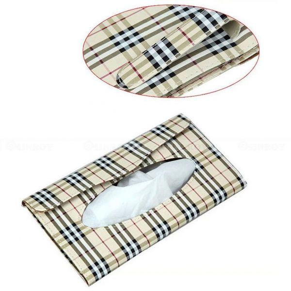 Car Sun Visor Holder Paper Napkin Clip Tissue Box