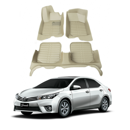 Toyota Corolla 5D Mat Beige Color - Model 2014-2017