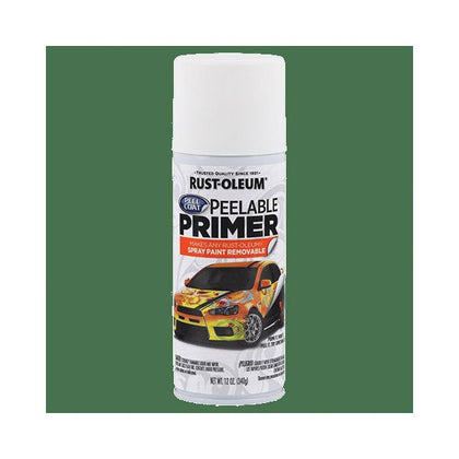 RUST-OLEUM Peel Coat 304611 Peelable Primer Spray, 12 oz, White