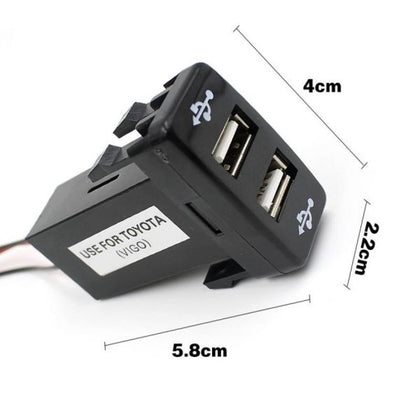 Universal In Dash Mobile Charger With 2 USB Slots