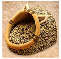 HERMOSO Leopard Print Cat Bed