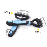 Pet Dematting Comb Multi-Functional Grooming