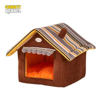 CAWAYI KENNEL Stripe Soft Dog Home