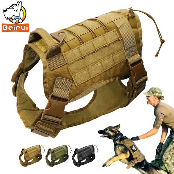 Water Resistant Tactical Dog Harness Military Training Vest