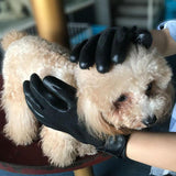 2 Pcs Dog Grooming Advanced Rubber Gloves