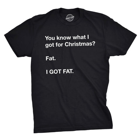 I Got Fat For Christmas Men's Tshirt