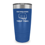 Rock Paper Scissors Throat Punch Ringneck Tumbler