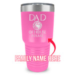 Dad Dragon House Custom Ringneck Tumbler