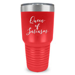 Queen Of Sarcasm Ringneck Tumbler