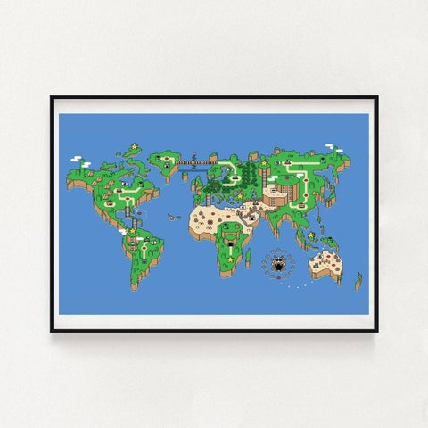 Super Mario World Inspired Wall Art Poster