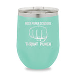 Rock Paper Scissors Throat Punch Stemless Wine Cup
