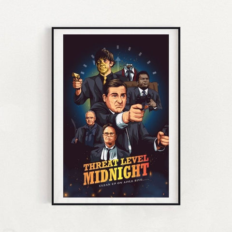 The Office Threat Level Midnight Inspired Poster 18x24