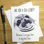 Are You A Sea Lion Valentine's Day Card