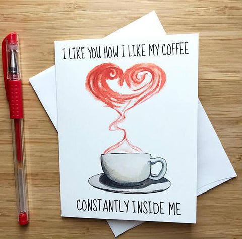 Coffee Valentine's Day Card