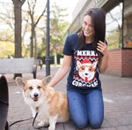 Merry Corgmas Ugly Christmas Sweater Women's Tshirt