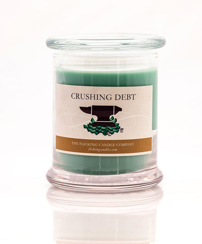Crushing Debt Funny Scented Candle