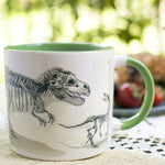 Disappearing Dinosaur Heat Changing Mug