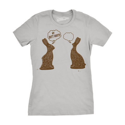 Faceless Chocolate Bunny Women's Tshirt