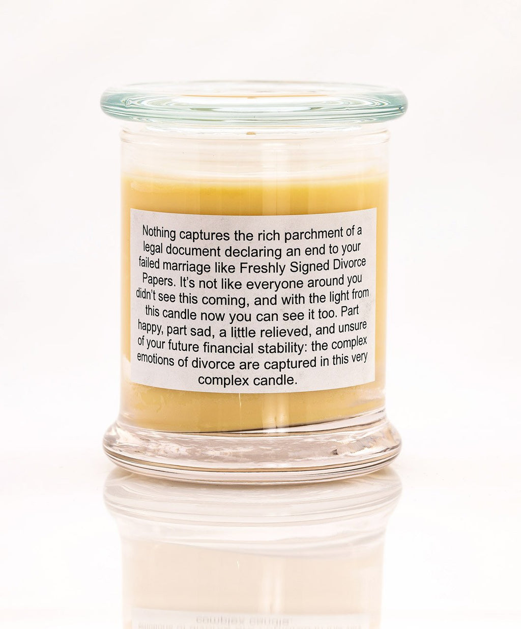 Freshly Signed Divorce Papers Funny Scented Candle