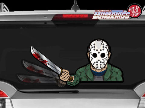 Masked Machete Killer Jason Wiper Blade Decal