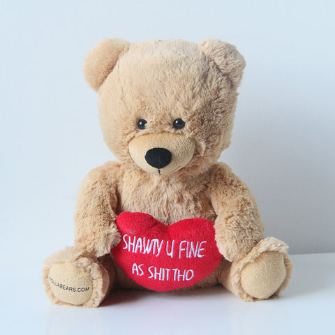 "Hollabears Shawty U Fine 10"" Plush Bear"