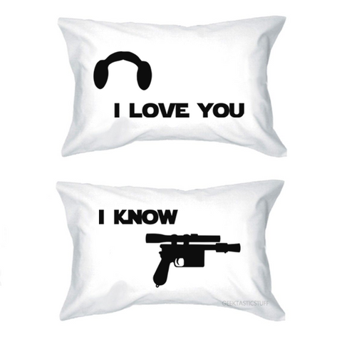 I Love You I Know Pillow Case Set